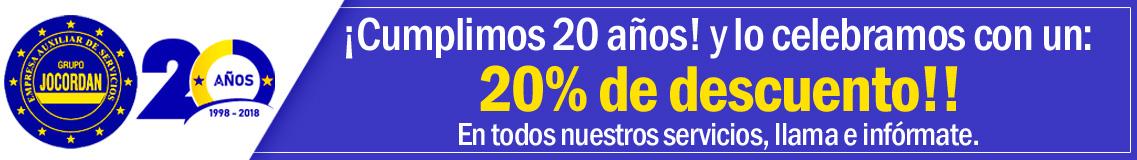20 años empresas de limpieza