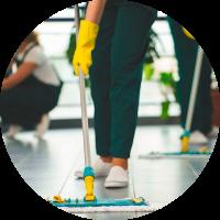 Empresa de limpieza equipo de limpieza