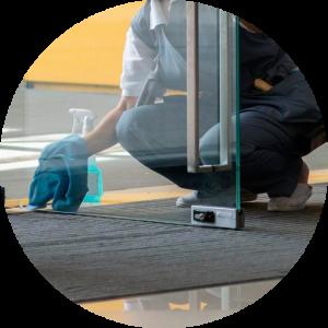 Empresa de limpieza trabajador